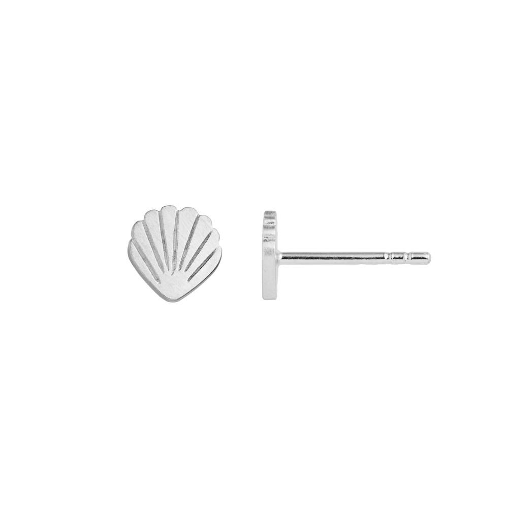 Petit Shell Earring Silver-35
