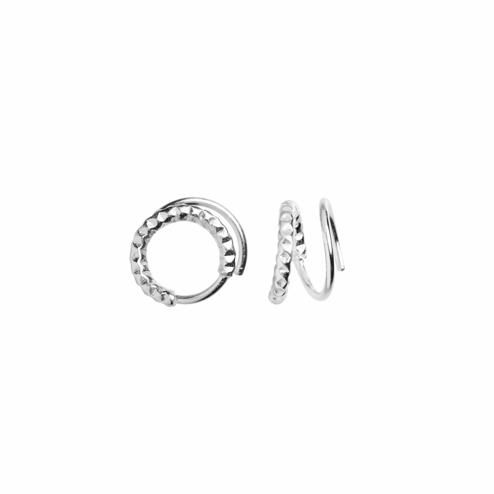 Tinsel Curl Earring Piece Right Silver-35