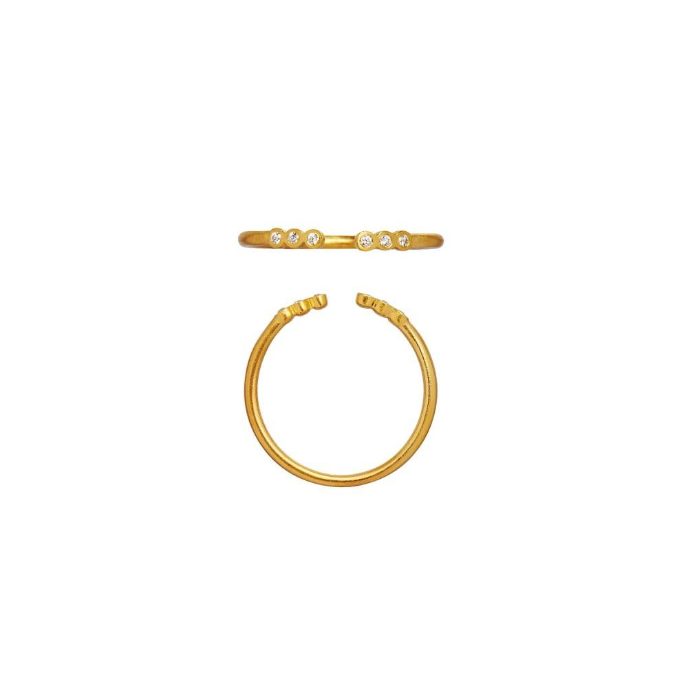 Open Six Dots Ring Gold-33