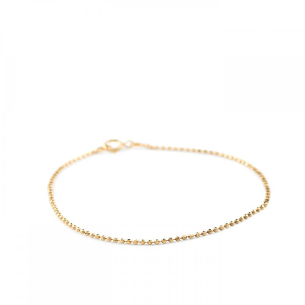 Facet Plain Bracelet Forgyldt-35
