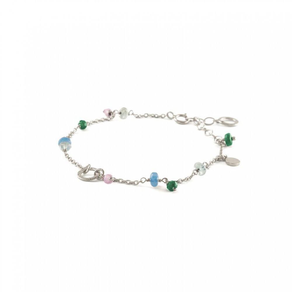 Multi Colour Bracelet Sølv-35