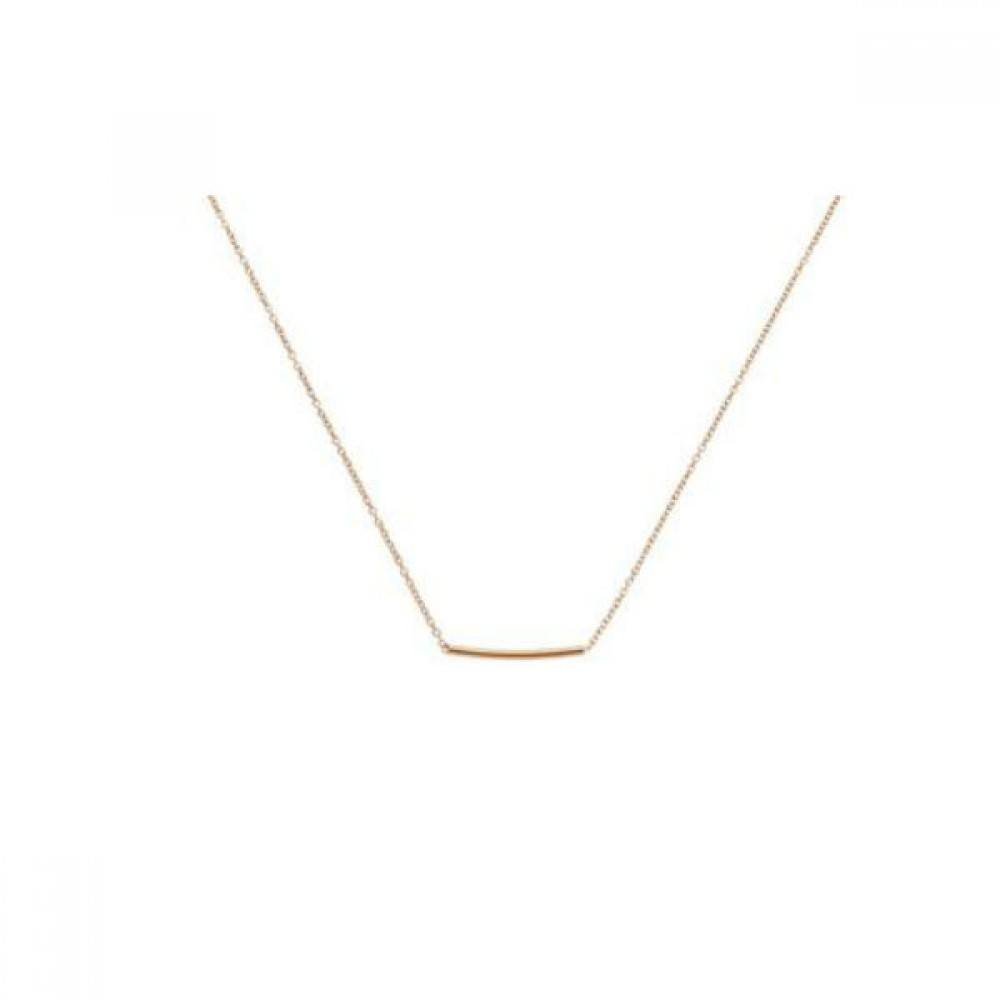 Pipe Necklace Gold-35