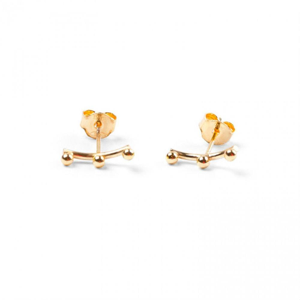 A.L. Ear Stud Gold-35