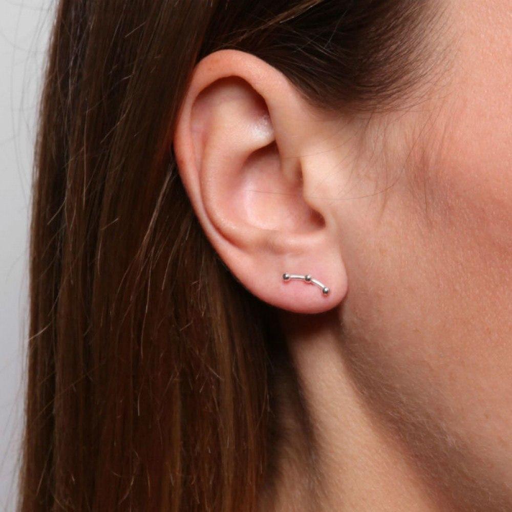 A.L. Ear Stud Silver-35