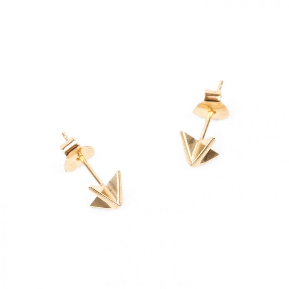 X Ear Stud Gold-35
