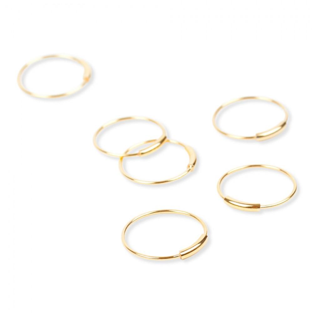 Jukserei Tube Ring Gold-33