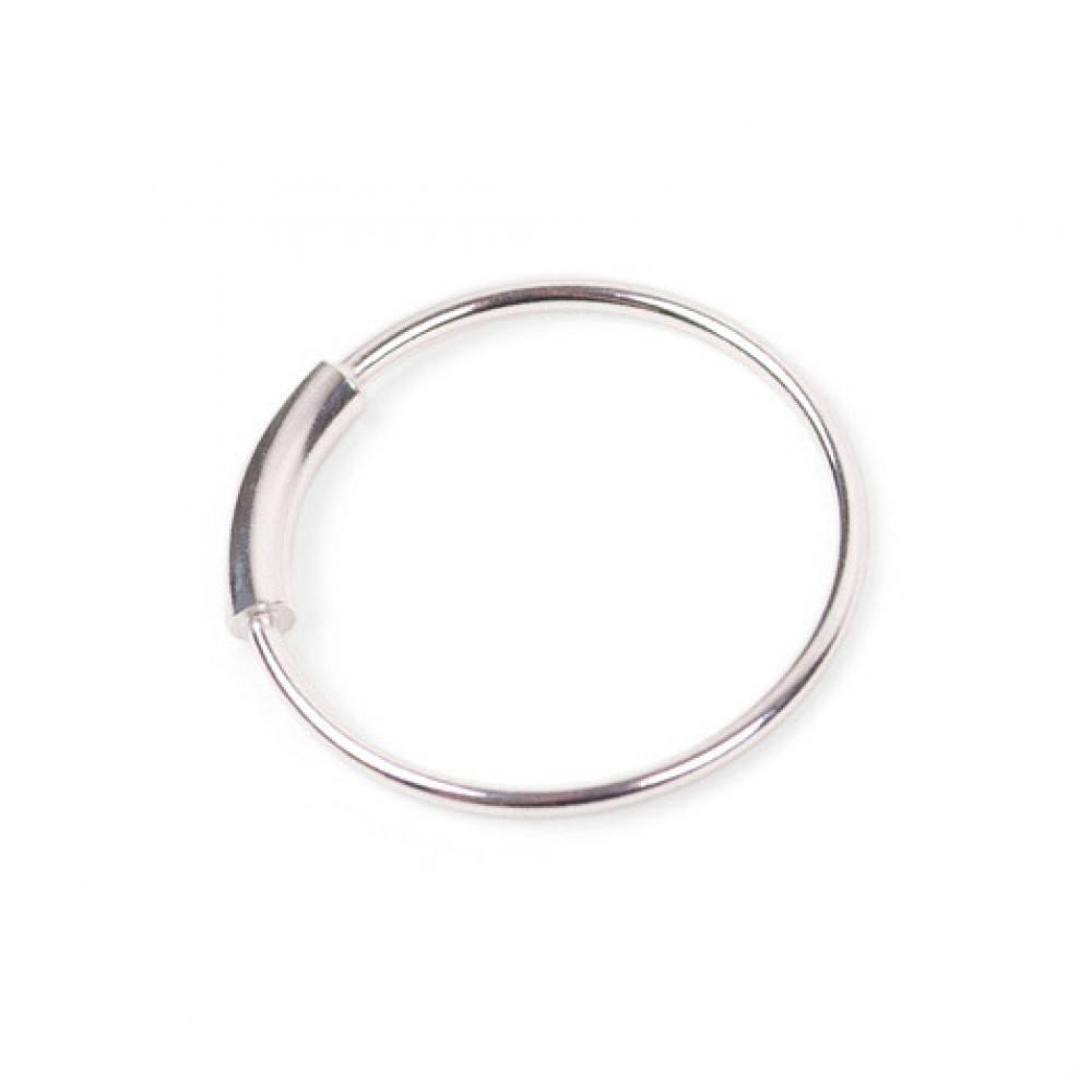 Jukserei Tube Ring Silver-33