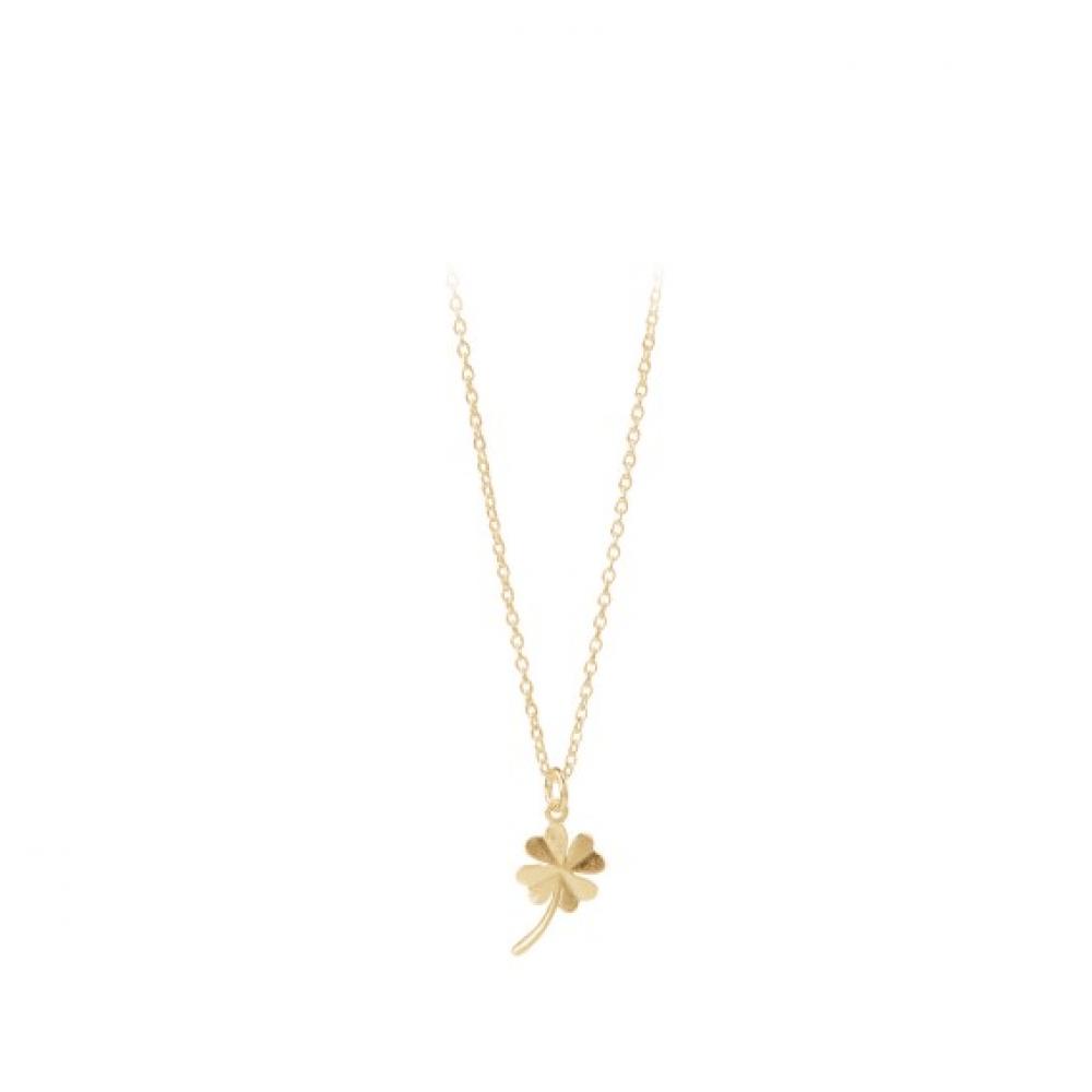 Clover Necklace Forgyldt-31