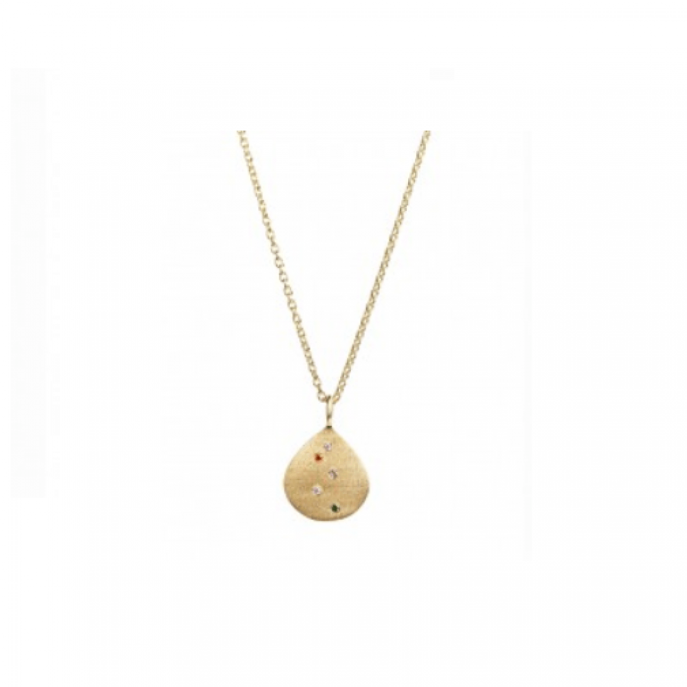 Confetti Shell Necklace Gold-35