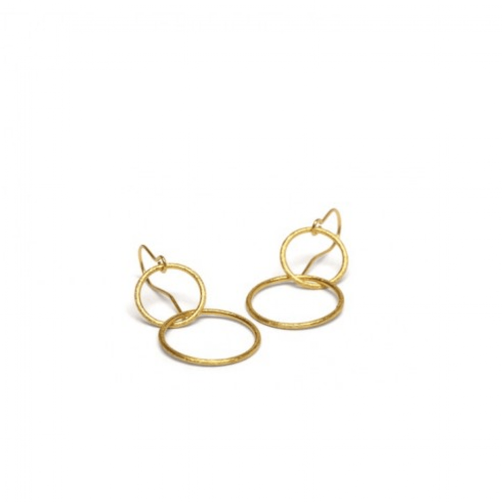 Double Plain Ear Hook Forgyldt-31