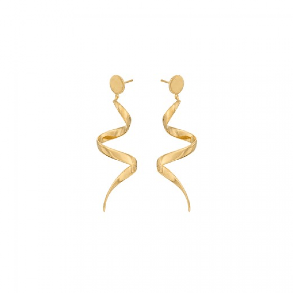 Pernille Corydon Loop Earrings Forgyldt-31