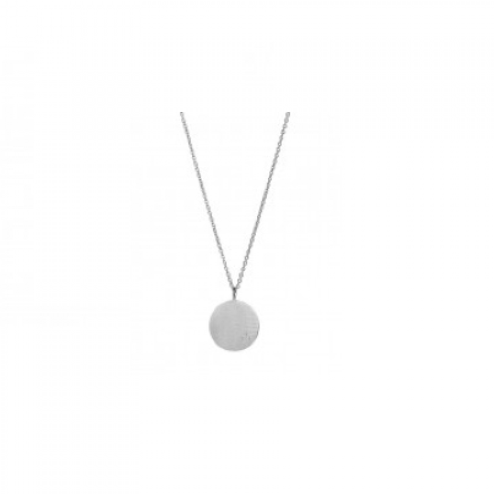 Love Coin Necklace Long Silver-35