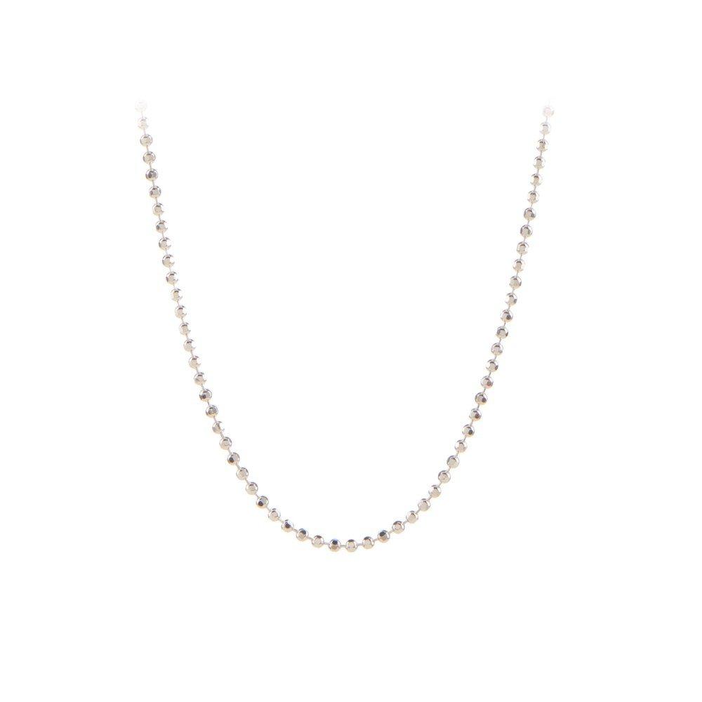 Facet Plain Necklace 80 cm Sølv-35