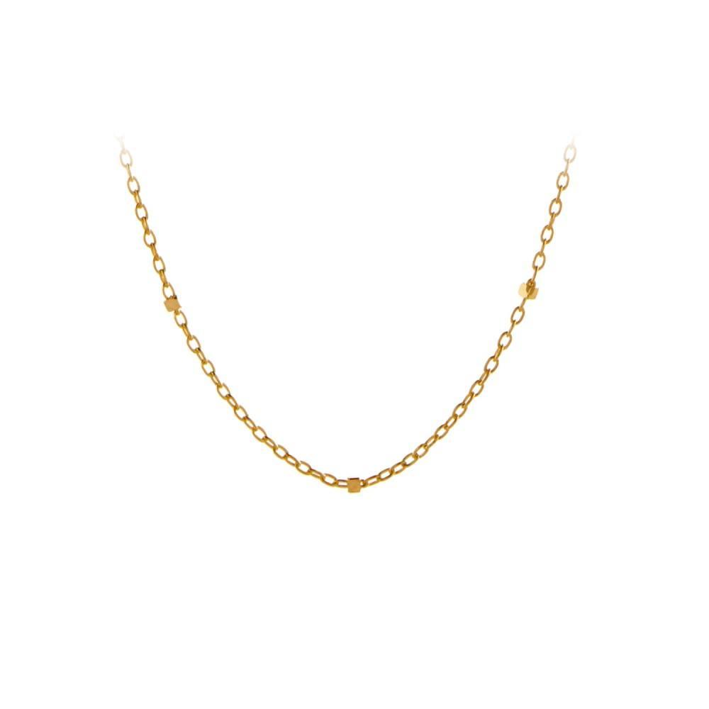 Saturn Necklace Forgyldt-35