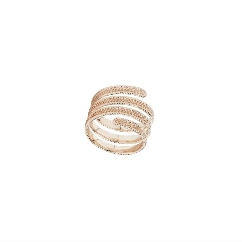 Shield Ring Rosa Forgyldt-33