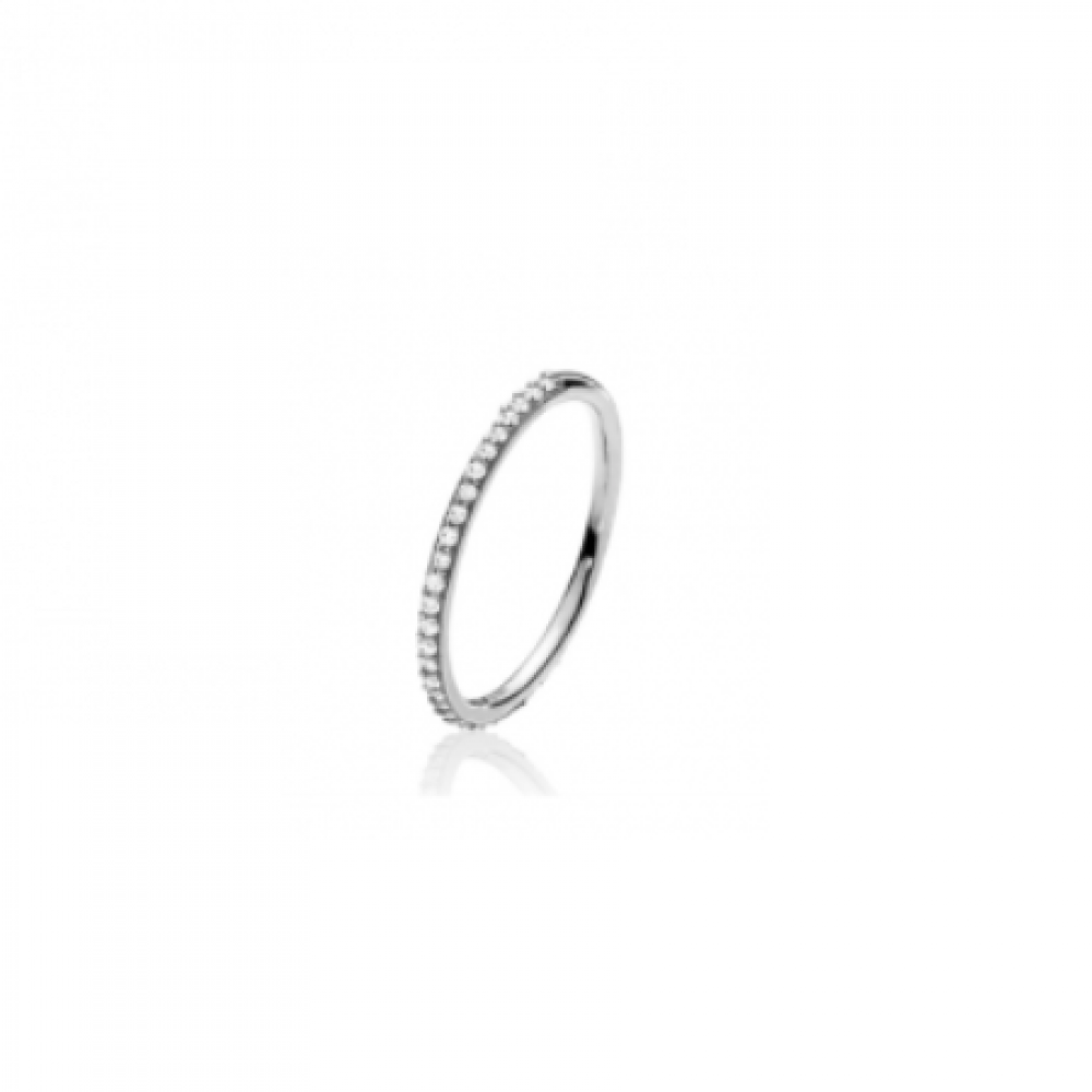 Izabel Camille Promise Small Ring Silver-33