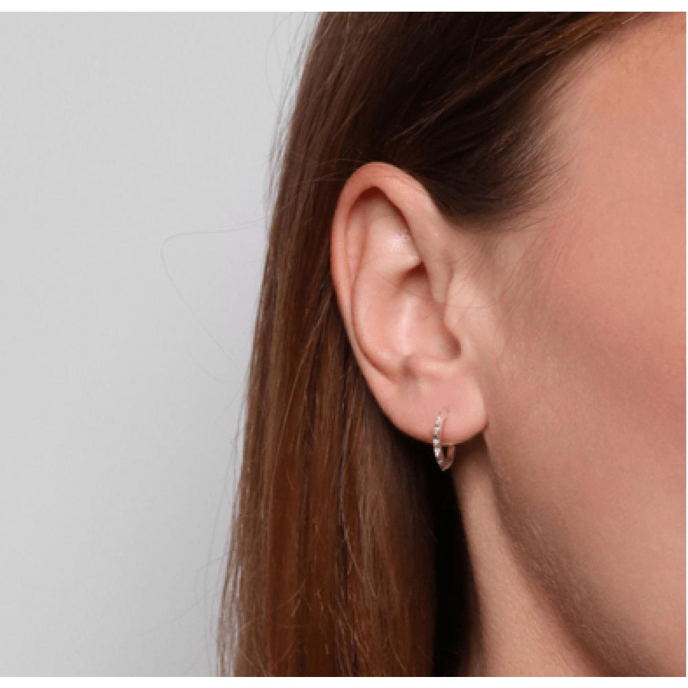 Jukserei Pyramid Ear Stud Silver-35