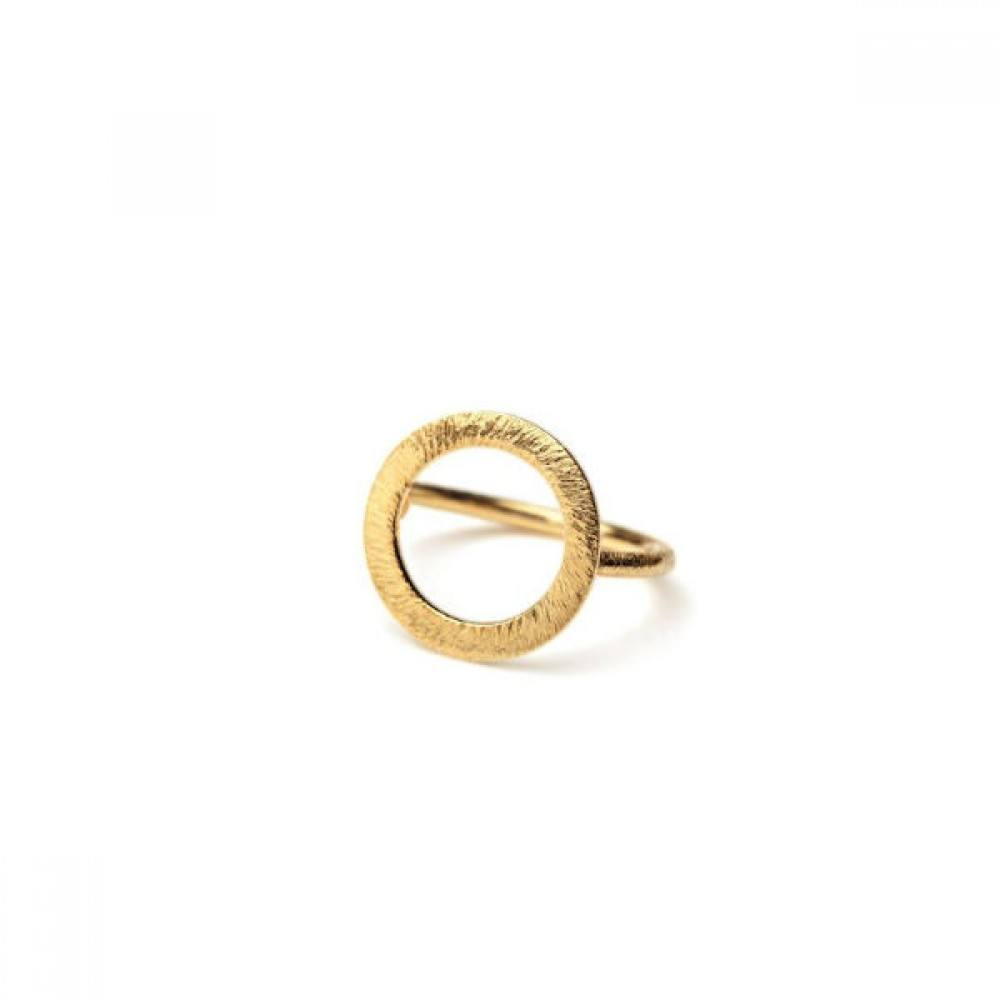 Open Coin Ring Forgyldt-33
