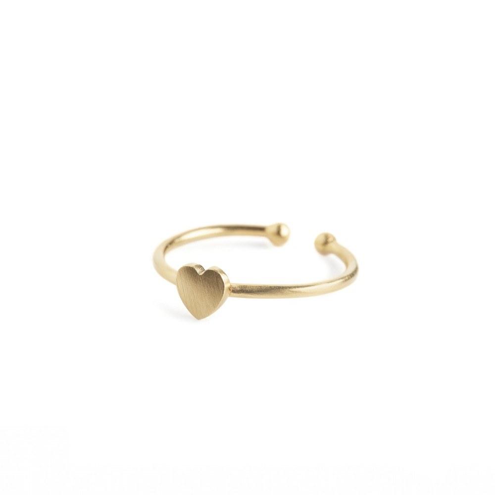 Pernille Corydon Heart Ring Forgyldt-33