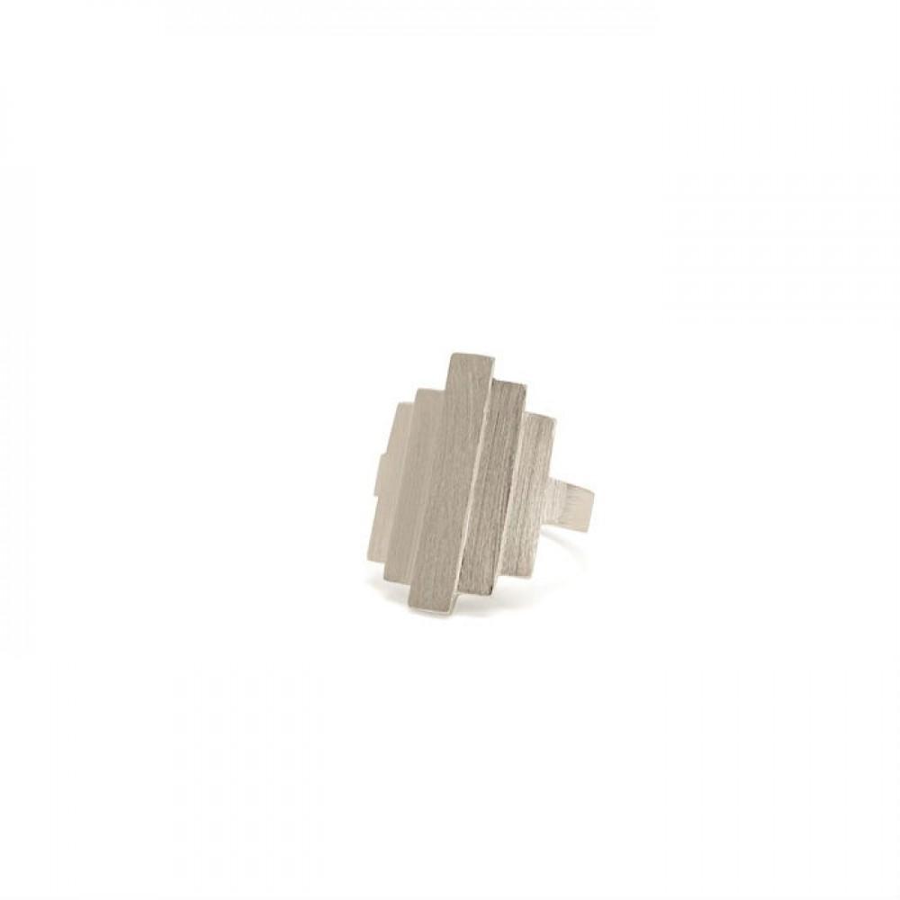 Pernille Corydon Brick Ring Sølv-33