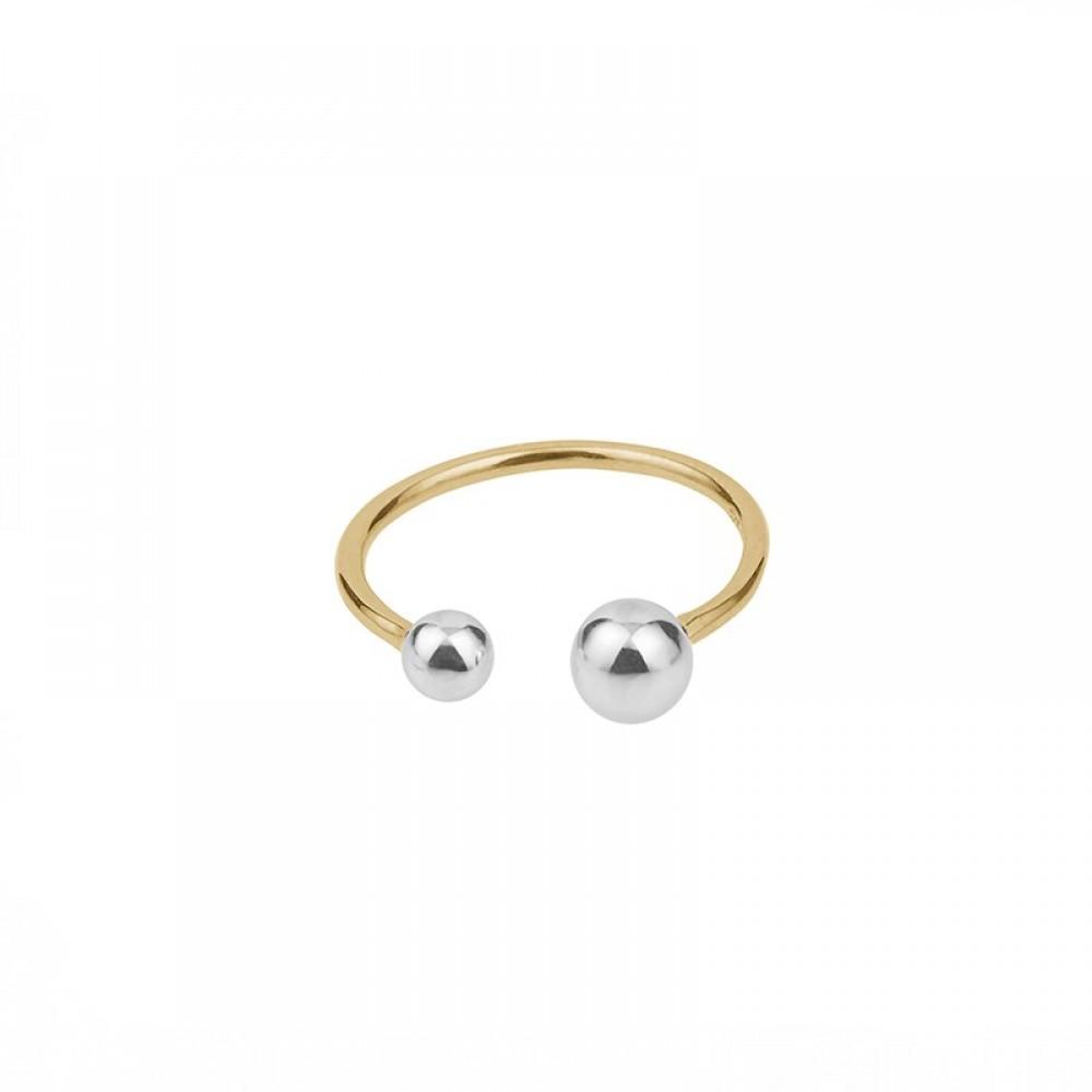 Pernille Corydon Pasodoble Ring Forgyldt/Sølv-33