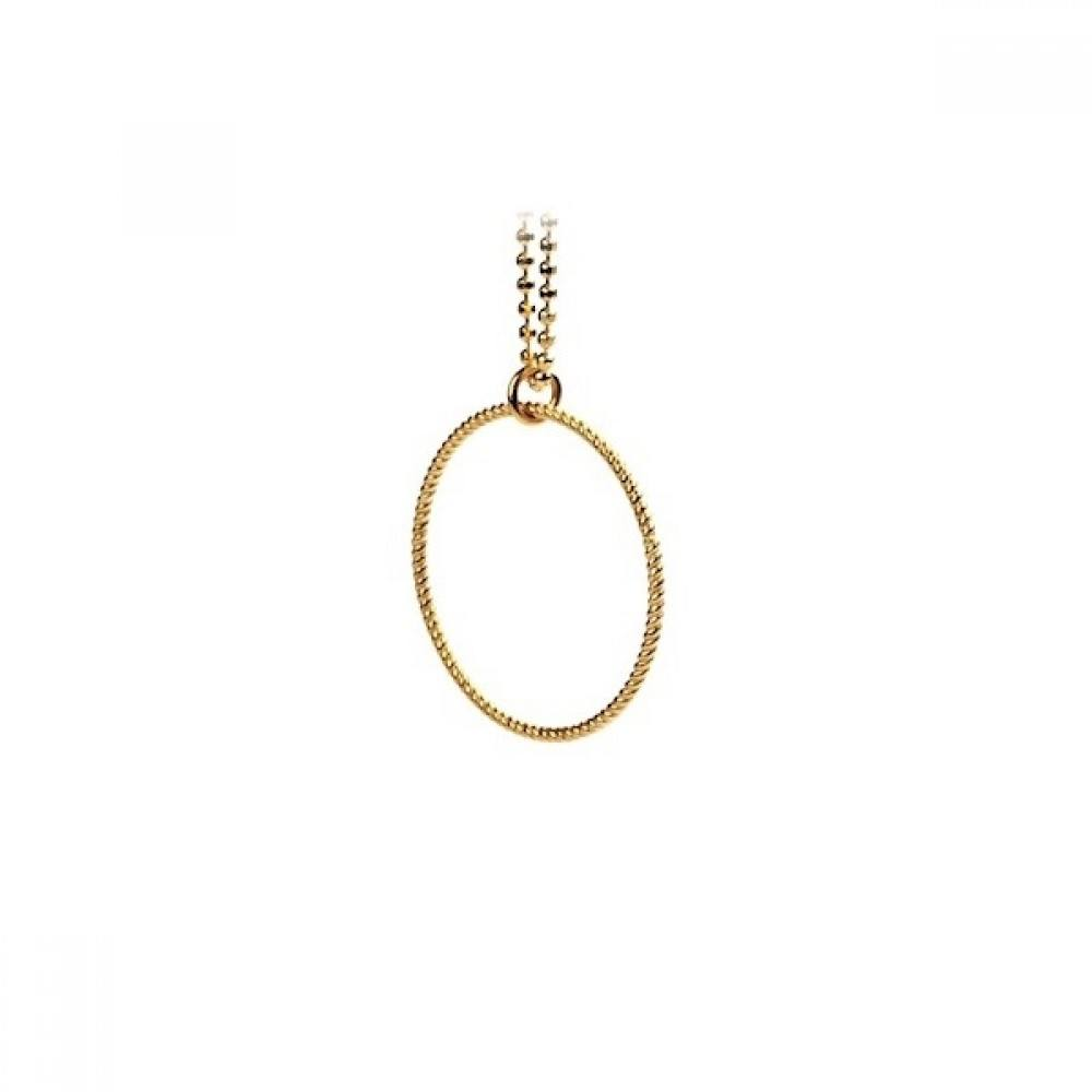 Small Twisted Necklace Gold-35