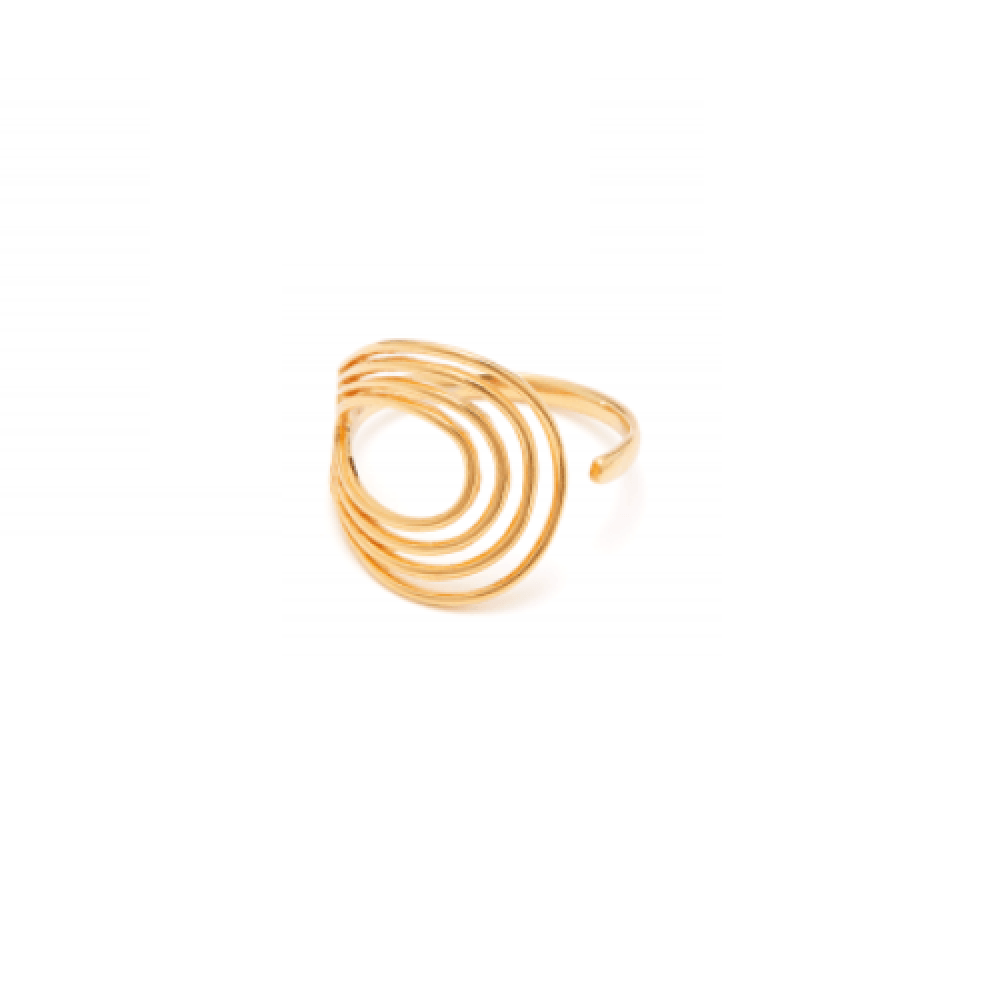 Louise Kragh Spiral 0402 Ring Forgyldt-33