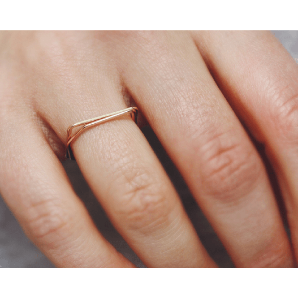 Jukserei Square Ring Gold-33