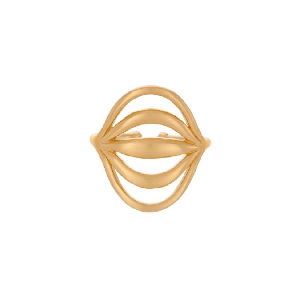 Pernille Corydon Tidal Ring Forgyldt-31