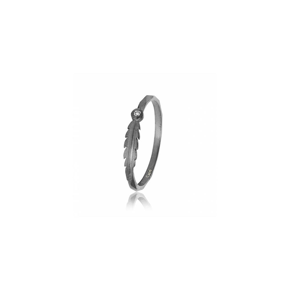 Carré My Precious Ring med diamant Oxideret-33