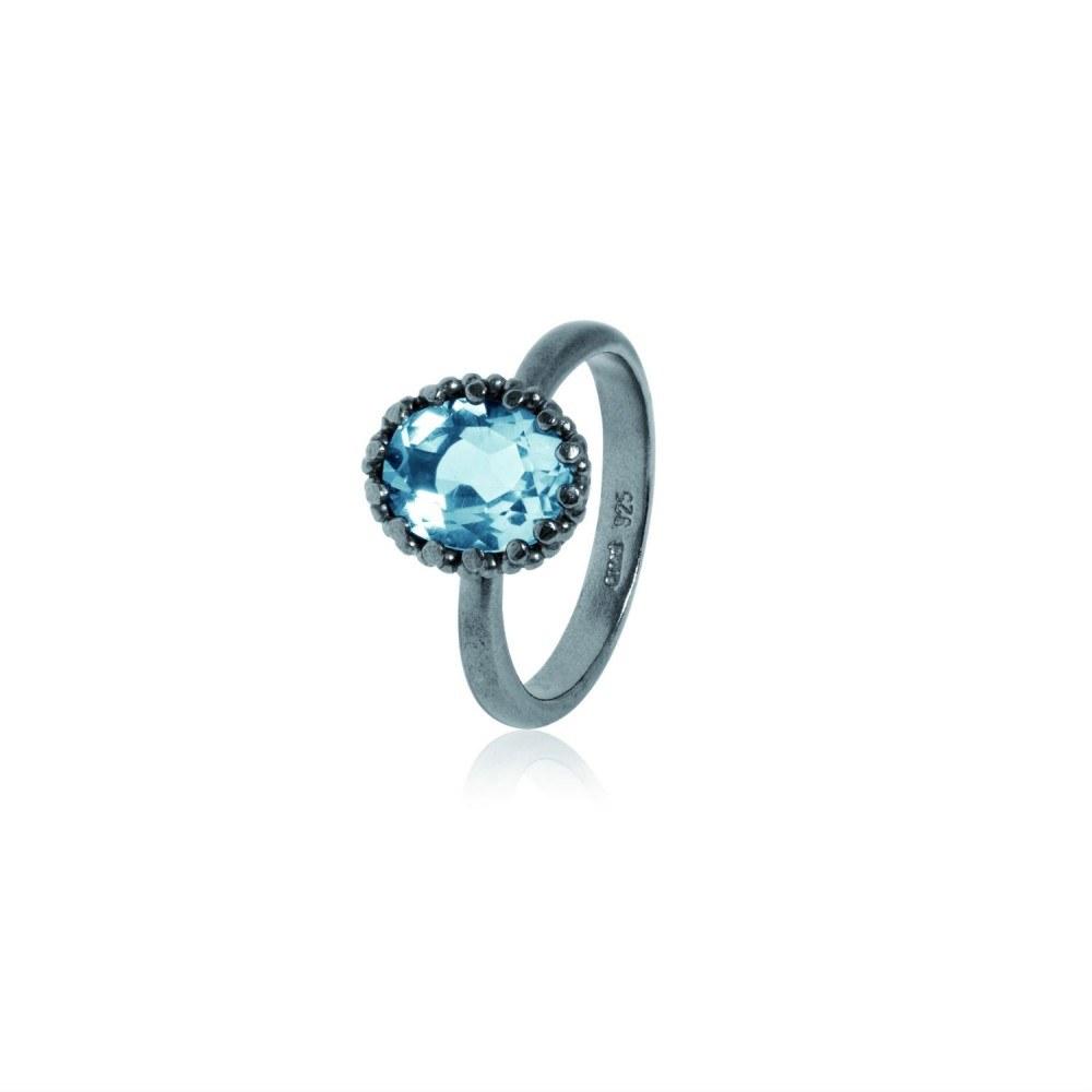 Carré Gilded Marvels Ring Blå Topas-33