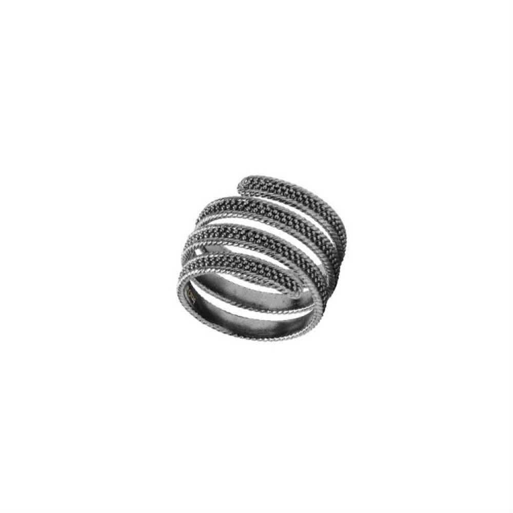 Carré Shield Ring Oxideret-33