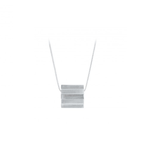 Stripe Necklace Sølv-20