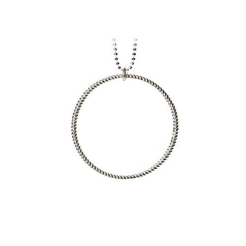 Big Twisted Necklace Sølv-20