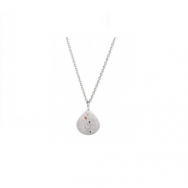 Confetti Shell Necklace Silver-20