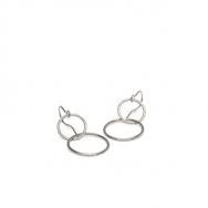 Pernille Corydon Double Plain Ear Hook Sølv-20