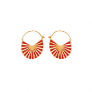Pernille Corydon Flare Red Earrings Forgyldt-20