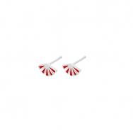 Flare Red Earsticks Sølv-20