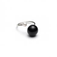 Freshwater Pearl Ring Sølv/Sort-20
