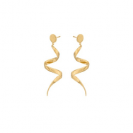 Pernille Corydon Loop Earrings Forgyldt-20
