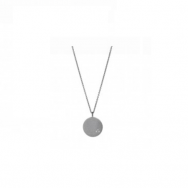 Love Coin Necklace Long Black-20