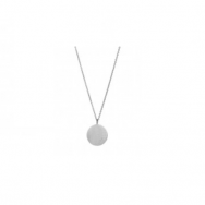 Love Coin Necklace Long Silver-20