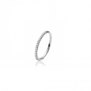 Izabel Camille Promise Small Ring Silver-20