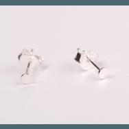Punkt Ear Stud Silver-20