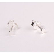 Jukserei Punkt Ear Stud Silver-20