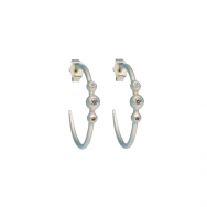 Lady Globosa Hoops øreringe sølv-20