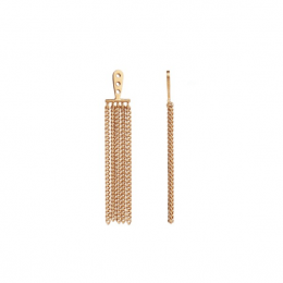Dancing Chains Long Behind Ear-Earring Gold-20