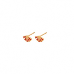 Flare Red Earsticks Forgyldt-20