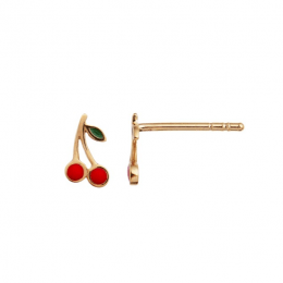 Stine A Petit Cherry Earring Enamel Forgyldt-20