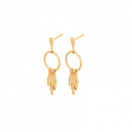 Waterfall Earrings Forgyldt-20